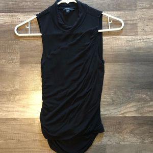 Guess Mock neck black sleeveless blouse